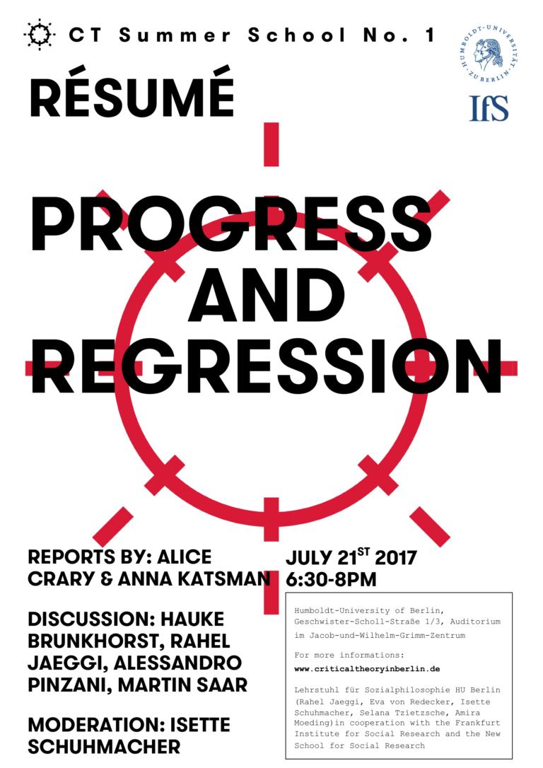 Résumé: Progress and Regression