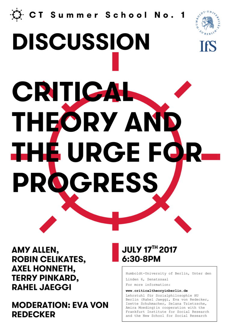 Critical Theory and the urge for progress