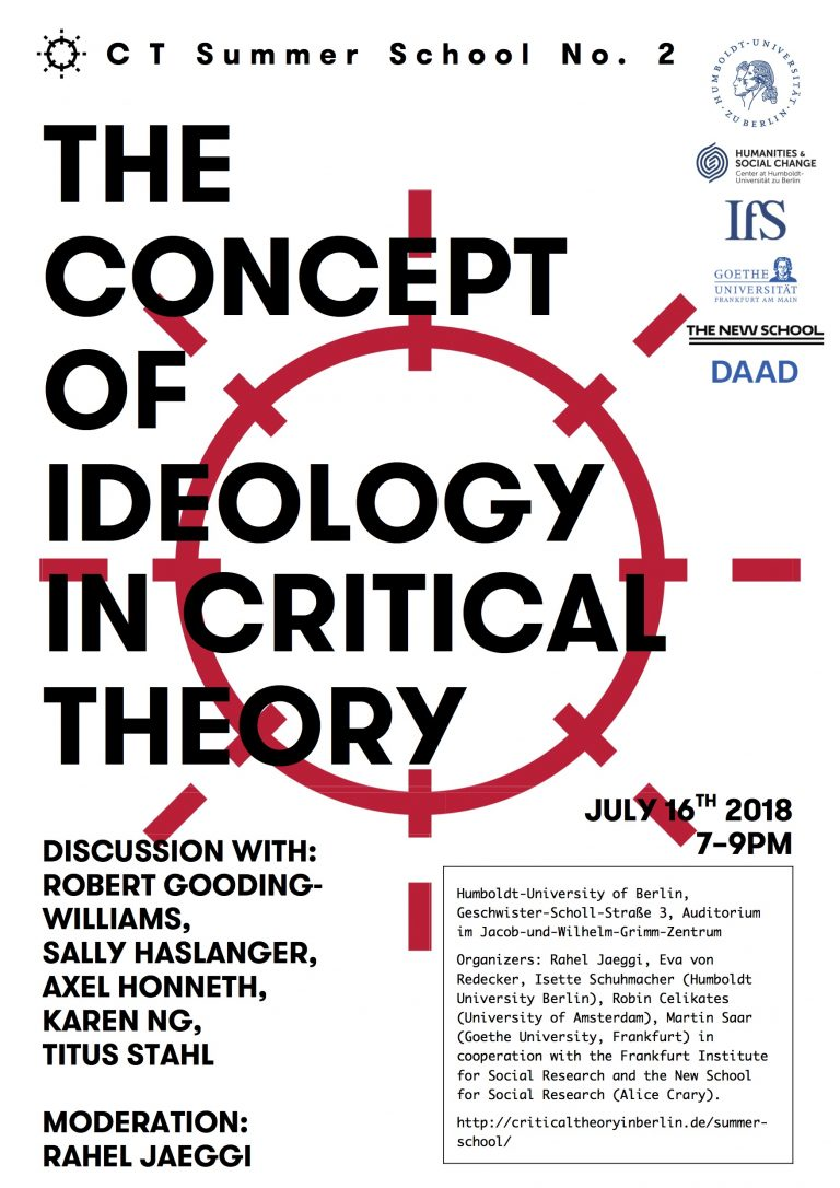 The Concept of Ideology in Critical Theory