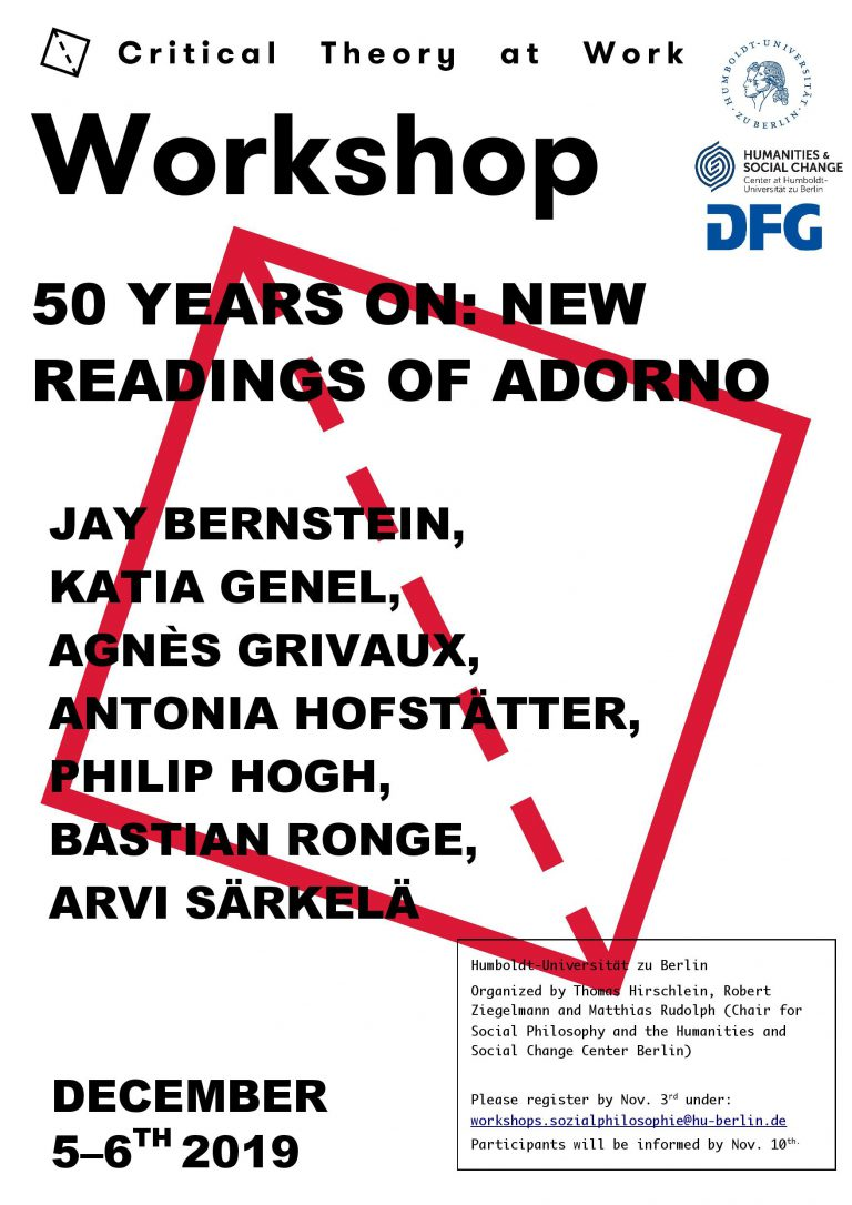 50 Years on: New Readings of Adorno