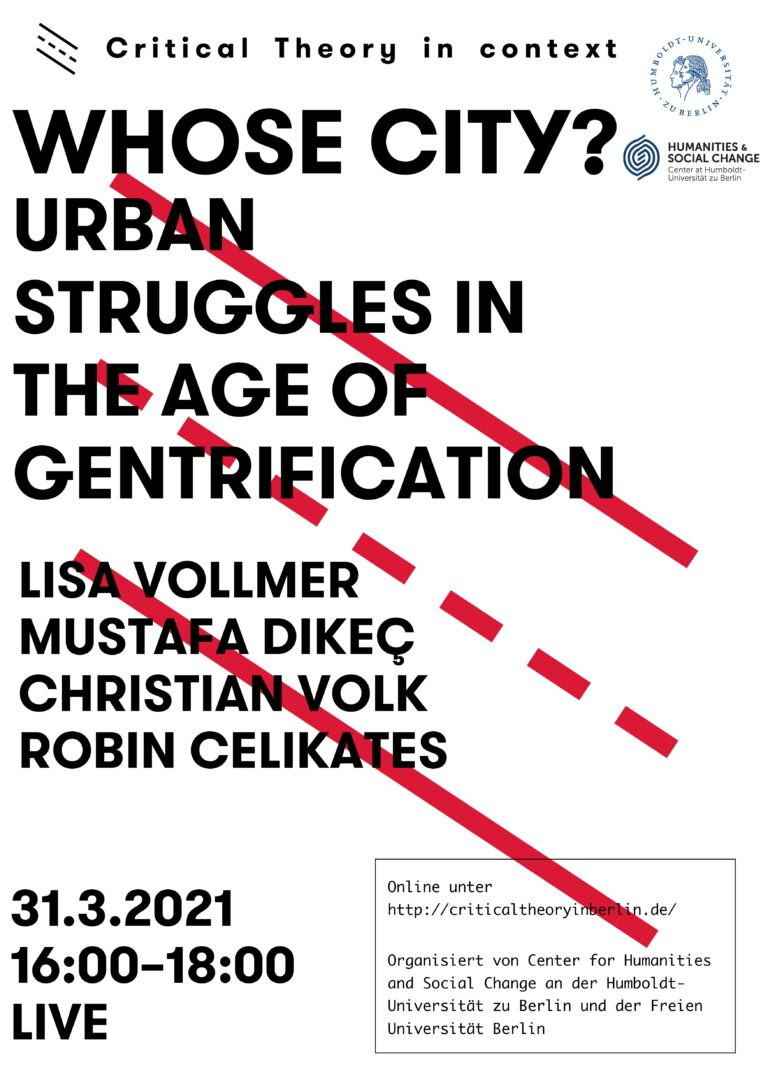 Whose City? Urban Struggles in the Age of Gentrification